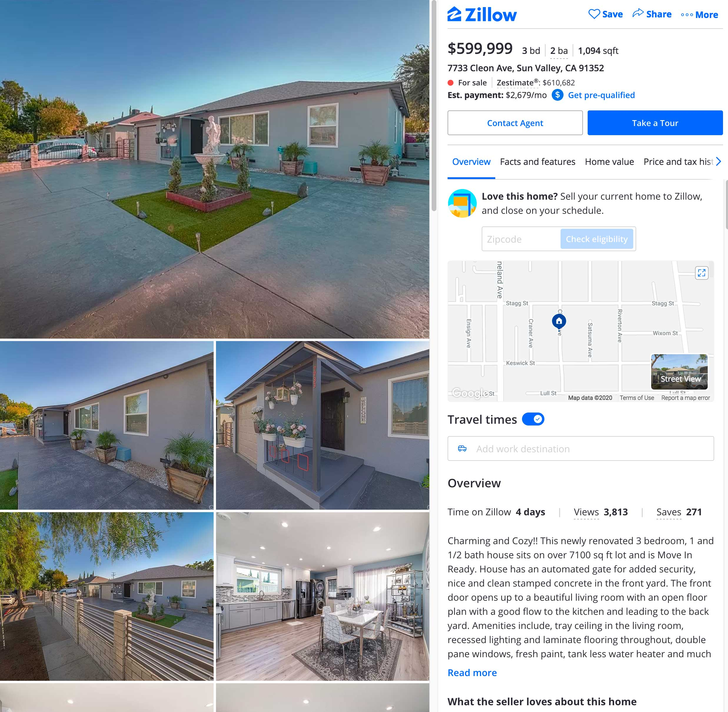 cleon ave house for sale sun valley ca