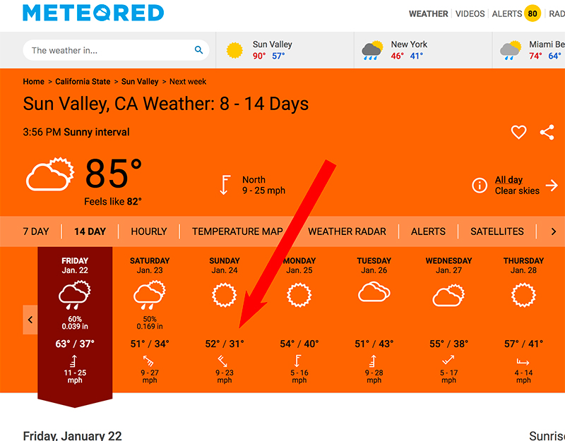 sun valley jose mier weather 14 days